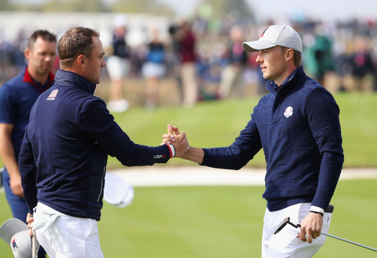 2018 Ryder Cup: Friday Morning Fourball - Jordan and Justin Celebrate a 1-Up Win