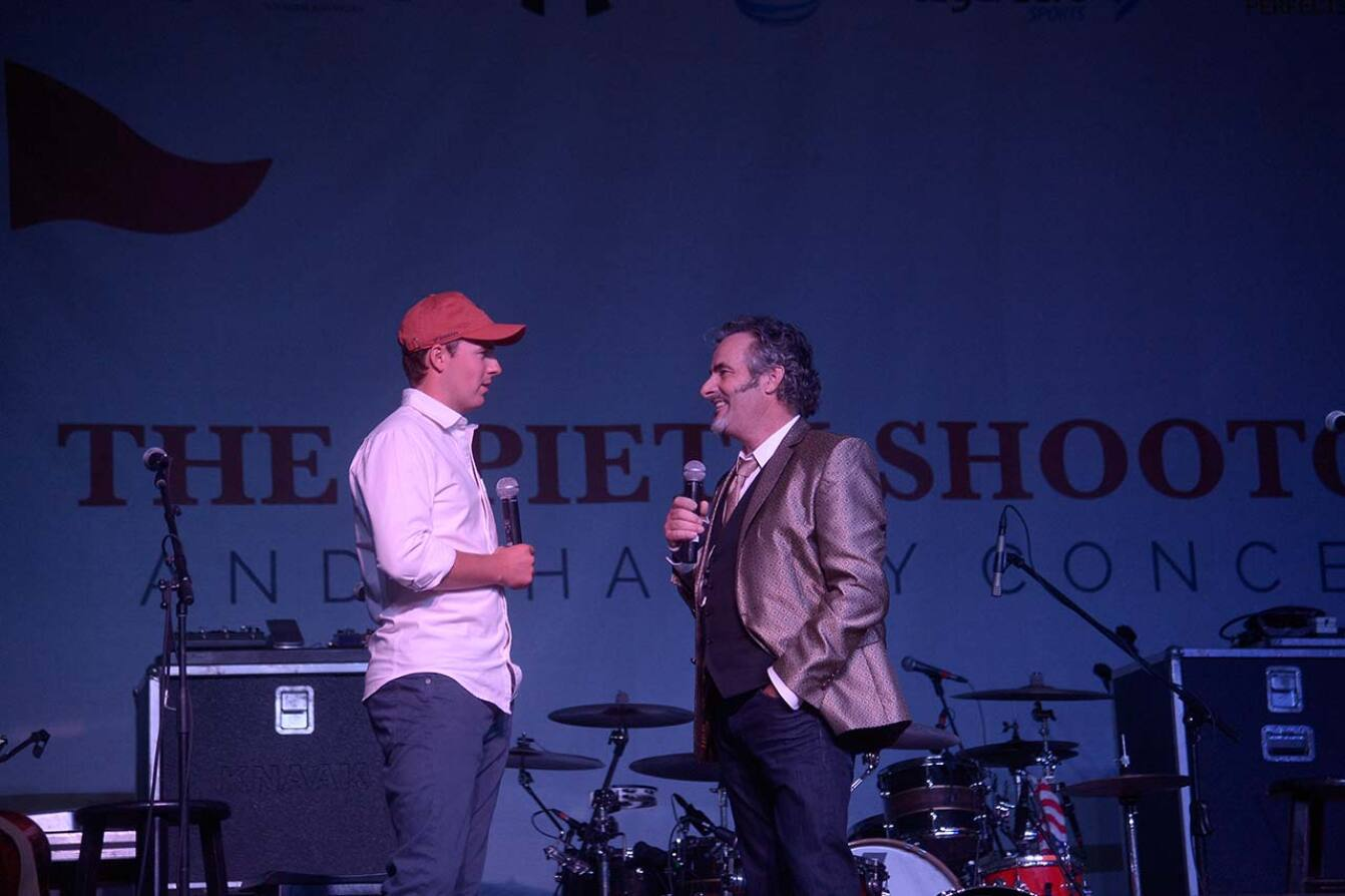 Jordan and David Feherty on Stage