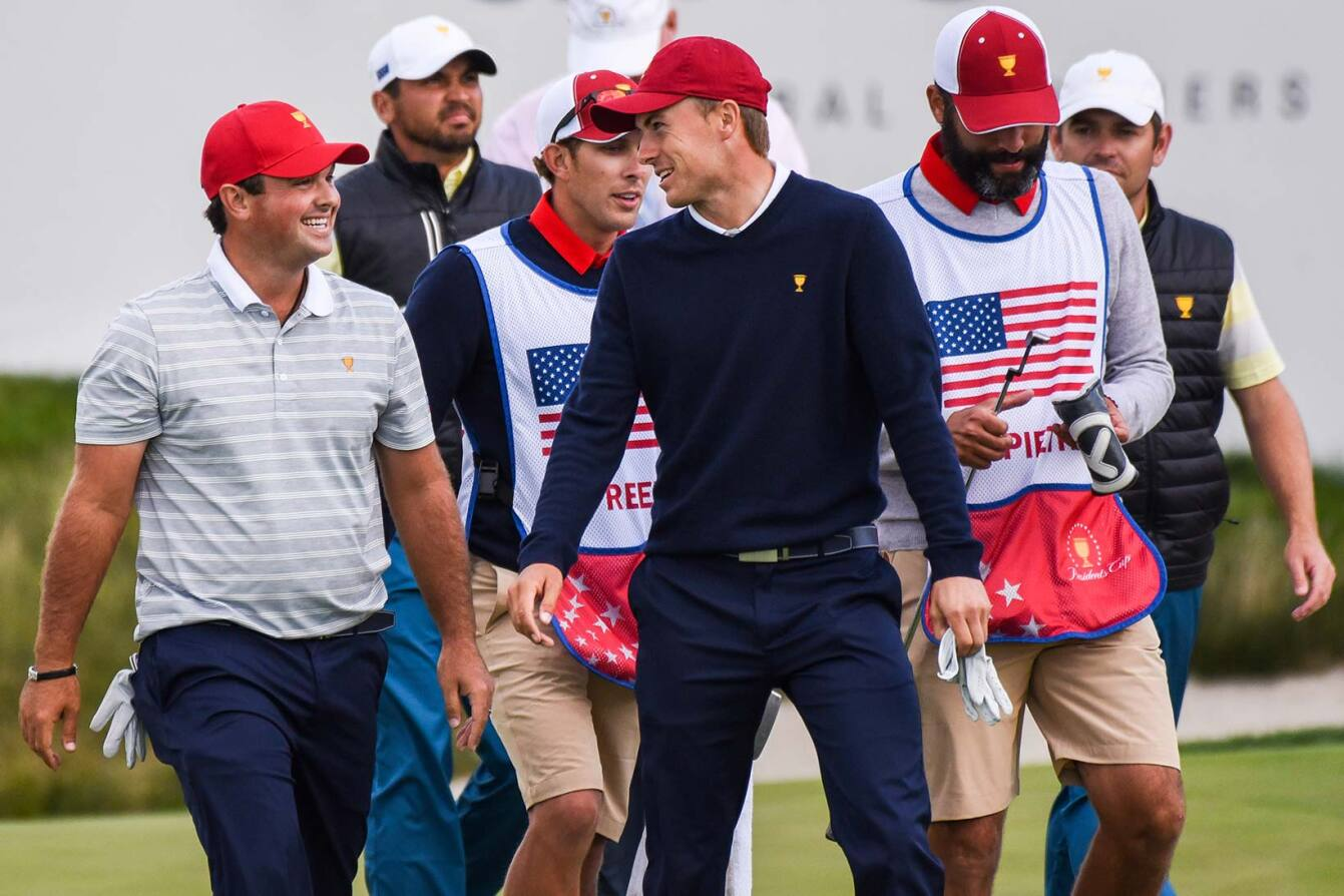 2017 Presidents Cup: Round 3 - Patrick Reed and Jordan Spieth on No. 17
