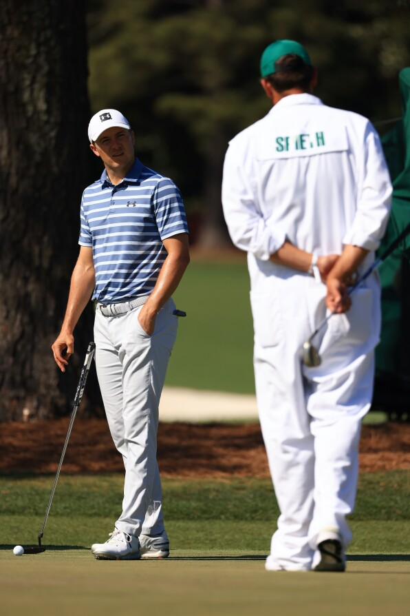 2021 Masters Tournament: Preview Day 1 - Jordan and Michael During Their First Practice Round