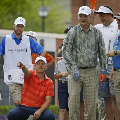 Jordan and Bill Murray at the 2016 Dean & DeLuca Invitational