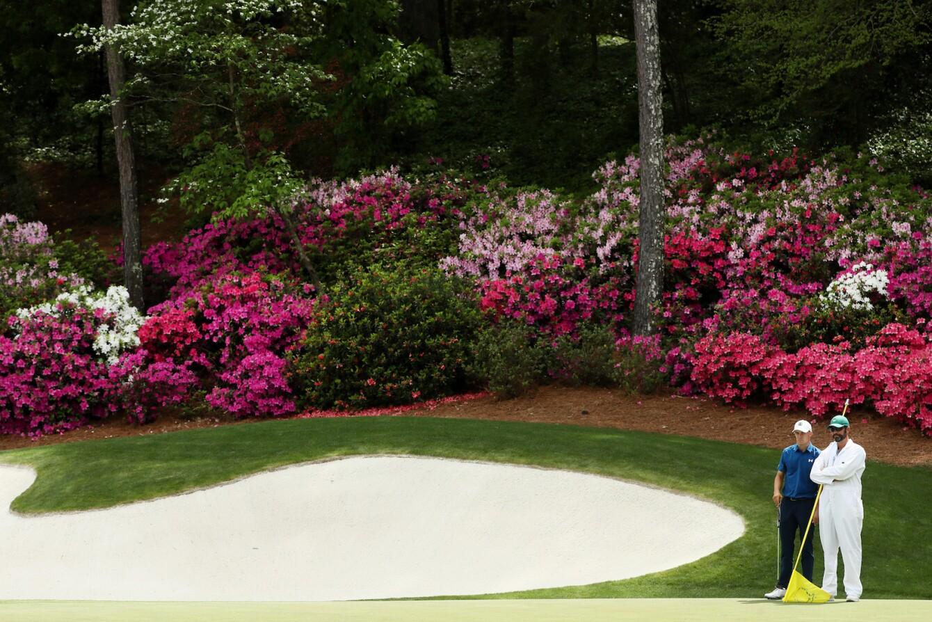 2018 Masters Tournament: Round 2 - Green on No. 13