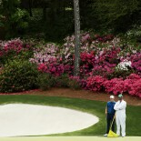 2018 Masters Tournament: Round 2 - Green on No. 13