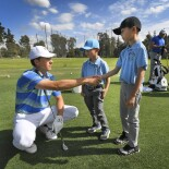 2018 Genesis Open: Pro-Am - Jordan Shakes Hands With His Young Fans