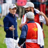 2018 Ryder Cup: Friday Morning Fourball - Post-Birdie Celebration