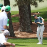 2021 Masters Tournament: Final Round - Jordan Plays a Shot on the Second