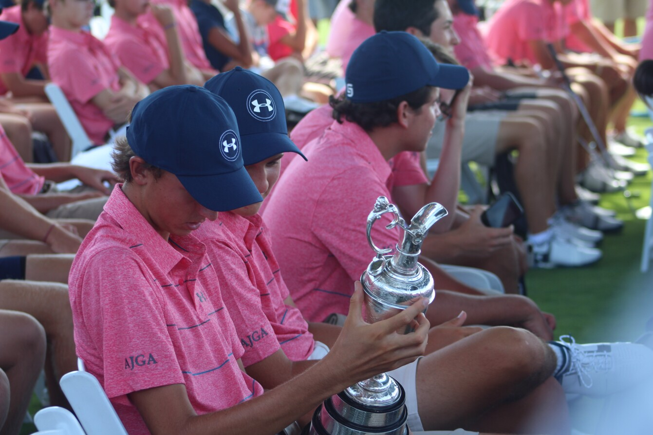 ACE Grant Announcement: Youth Golfers Hold The Open Trophy