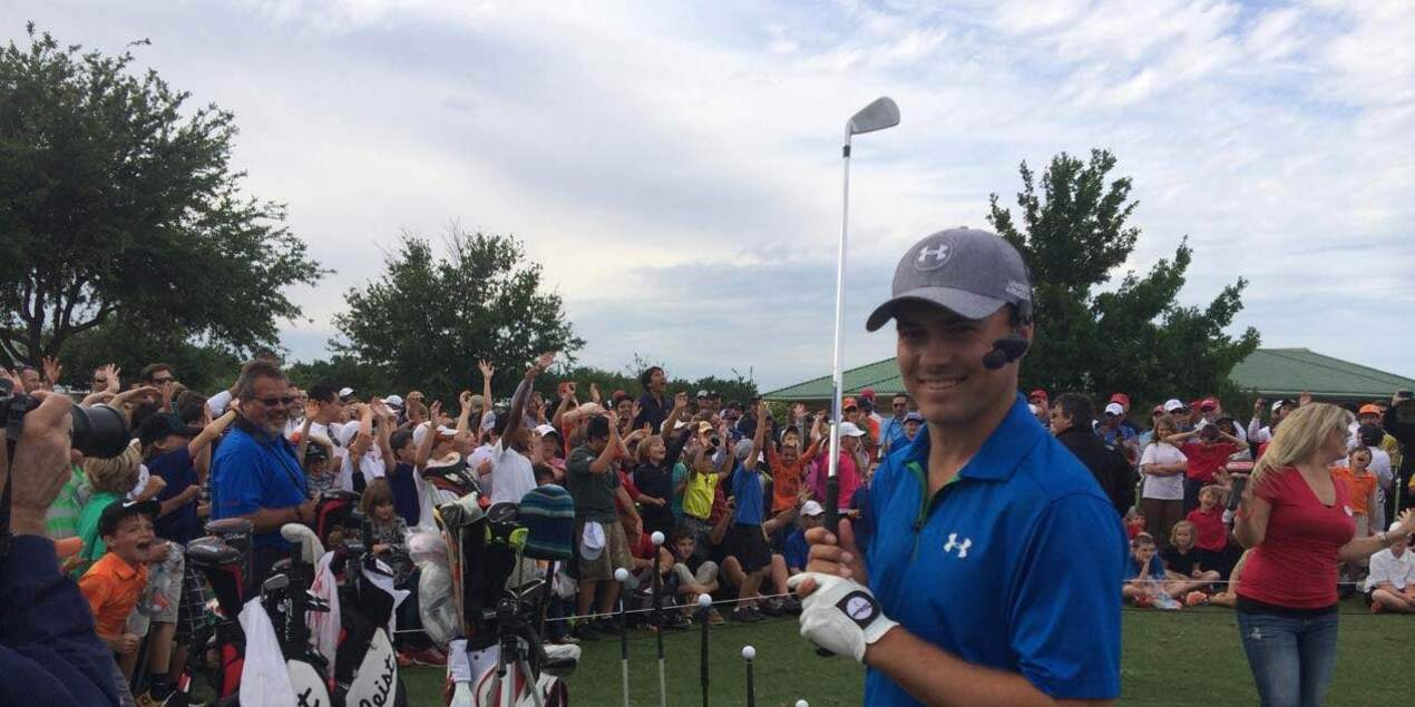 Jordan Spieth at the HP Byron Nelson Junior Golf Clinic