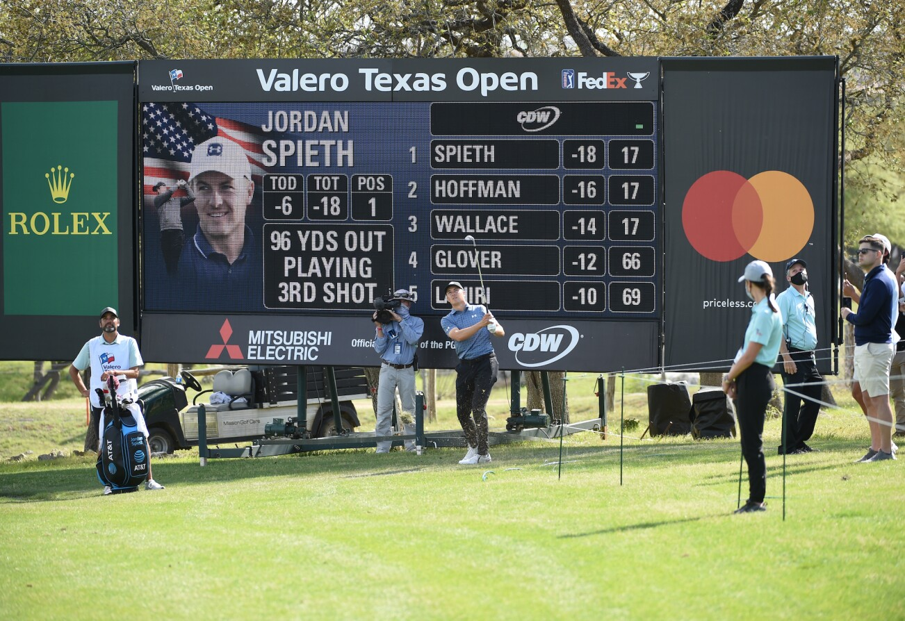 2021 Valero Texas Open: Final Round - Third Shot on 18th