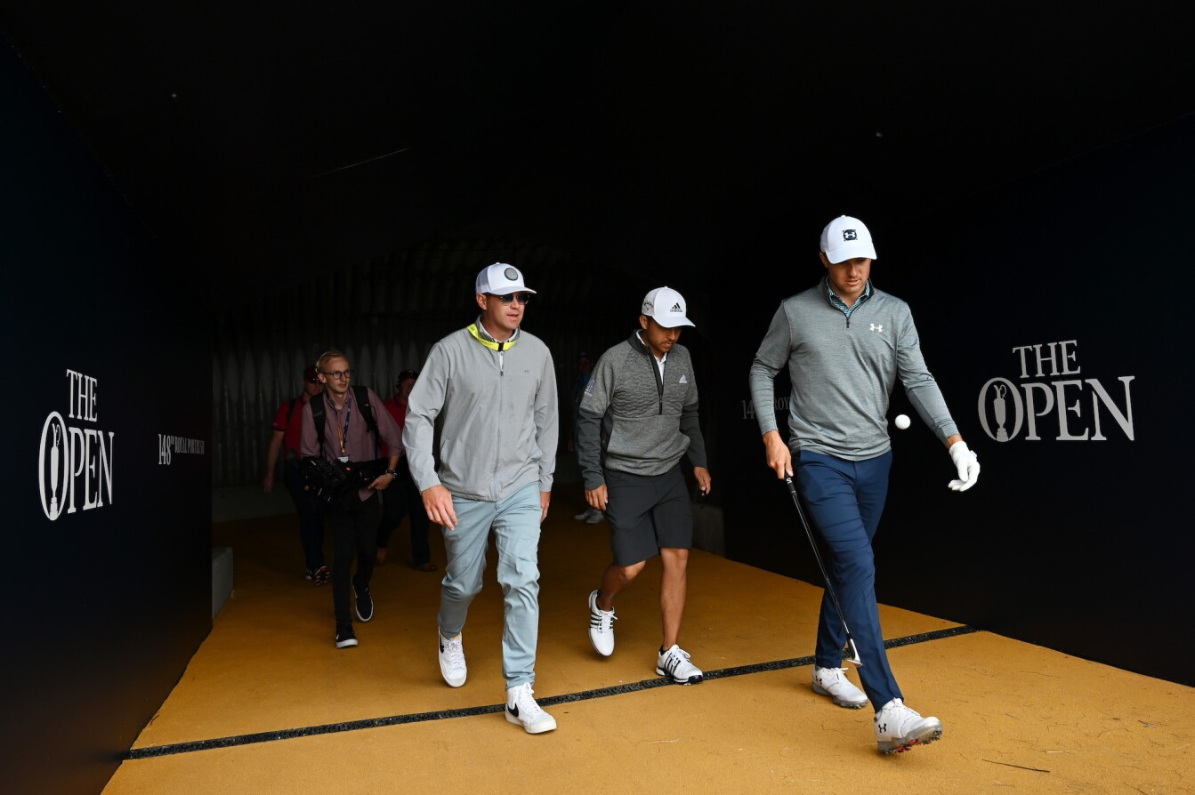 The Open Championship 2019: Preview Day 1 - Jordan and Xander Schauffele Walk Out of the Tunnel