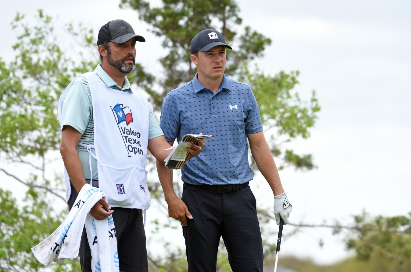 2021 Valero Texas Open: Final Round - Jordan and Michael on 5th Tee
