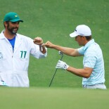 2021 Masters Tournament: Round 3 - Birdie Reaction on No. 10