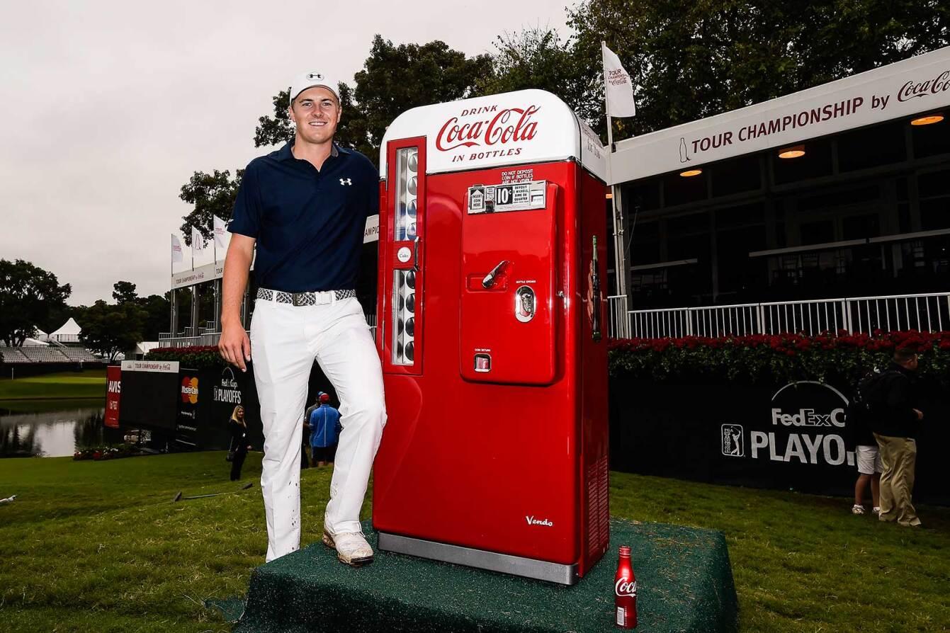 Jordan and a Vintage Coca-Cola Vending Machine
