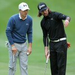 Jordan Spieth with Jake Owen at the 2014 AT&T Pebble Beach National Pro-Am