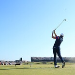 2021 Open Championship - Final Round - Jordan Spieth of the United States plays his shot from the 16th tee during Day Four of The 149th Open at Royal St George's Golf Club on July 18, 2021 in Sandwich, England.