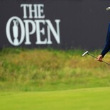 The Open Championship 2019: Round 1 - Walking Across the 18th Green