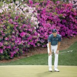 2021 Masters Tournament: Final Round - Looking Over His Putt on the 13th Green