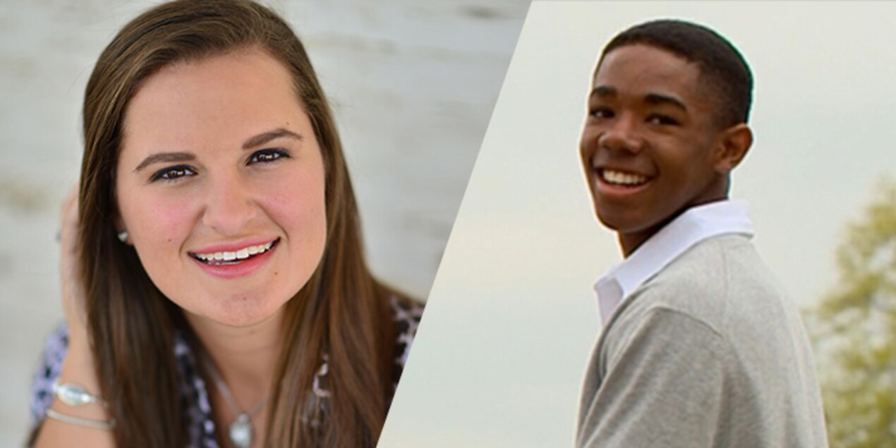 2015 Scholarship Recipients: Hannah Crosby, Lester Bell