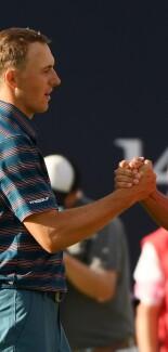 2018 Open Championship: Final Round - Jordan and Xander Schauffele on No. 18