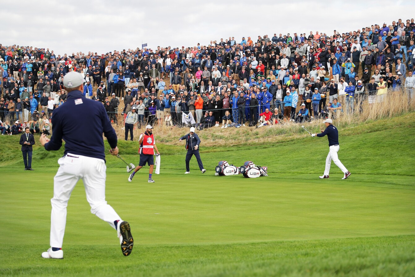 2018 Ryder Cup: Friday Morning Fourball - Chipping in on No. 7