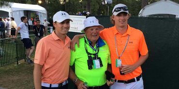 Jordan and Steven Spieth with their Grandpa at the 2014 U.S. Open