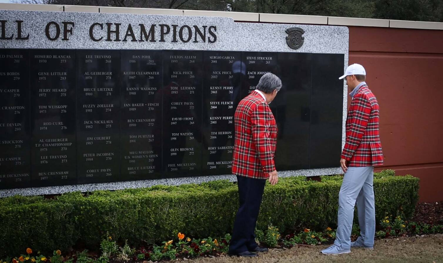 Jordan Gets His Name on the Wall of Champions at Colonial