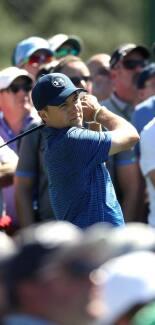 2017 Masters Tournament: Round 3 - Tee Shot on No. 8