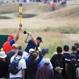 2018 Open Championship: Round 3 - Tee Shot on No. 2 After an Opening Round Eagle