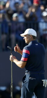 2021 Open Championship: Final Round - Acknowledging the Fans From the 18th Green