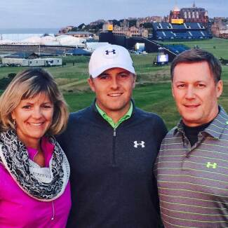 Chris, Jordan and Shawn Spieth at The Open Championship in St. Andrews