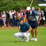 2018 Open Championship: Round 3 - Lining Up a Birdie Putt on No. 11