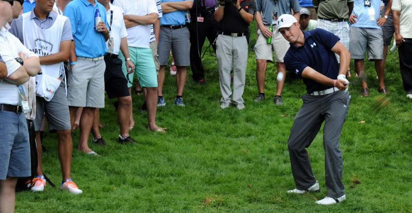 Jordan Spieth during Round 3 of the AT&T National in 2013
