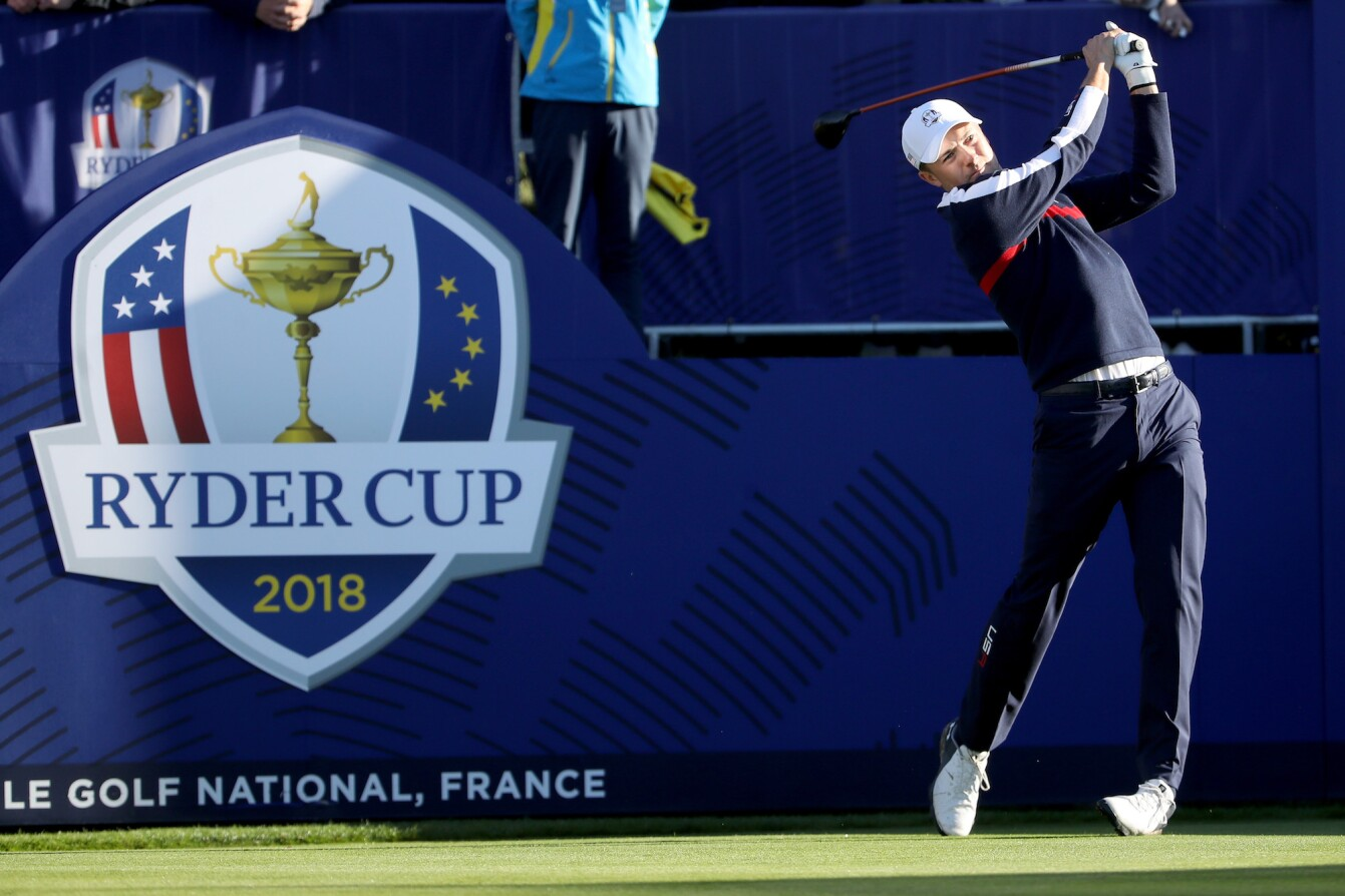 2018 Ryder Cup: Previews - Jordan Tees Off During First Practice Round