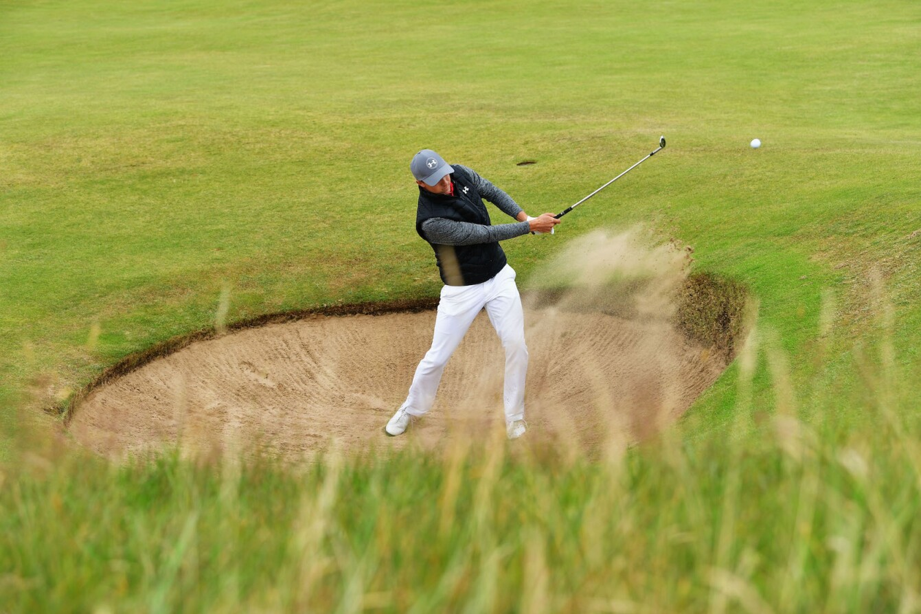 2017 Open Championship: Round 1 - Jordan Hits a Bunker Shot
