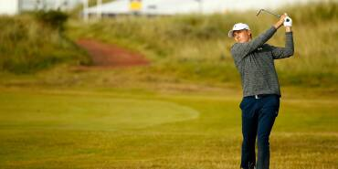 2017 Open Championship: Round 3 - Jordan Plays a Shot on No. 16