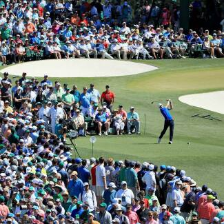 2017 Masters Tournament: Final Round - Tee Shot on No. 3