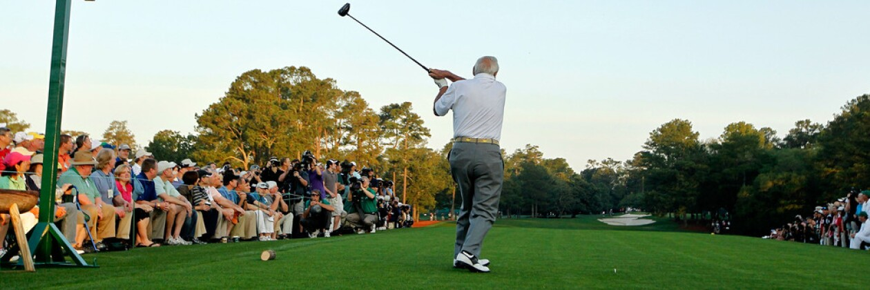 First Hole at Augusta with Arnold Palmer