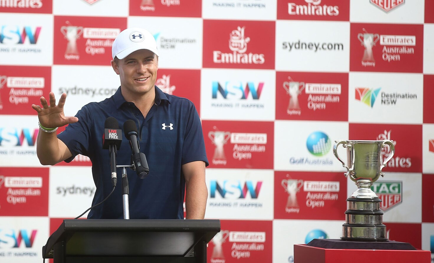 2016 Emirates Australian Open: Jordan Talks to the Press After His Second Australian Open Win