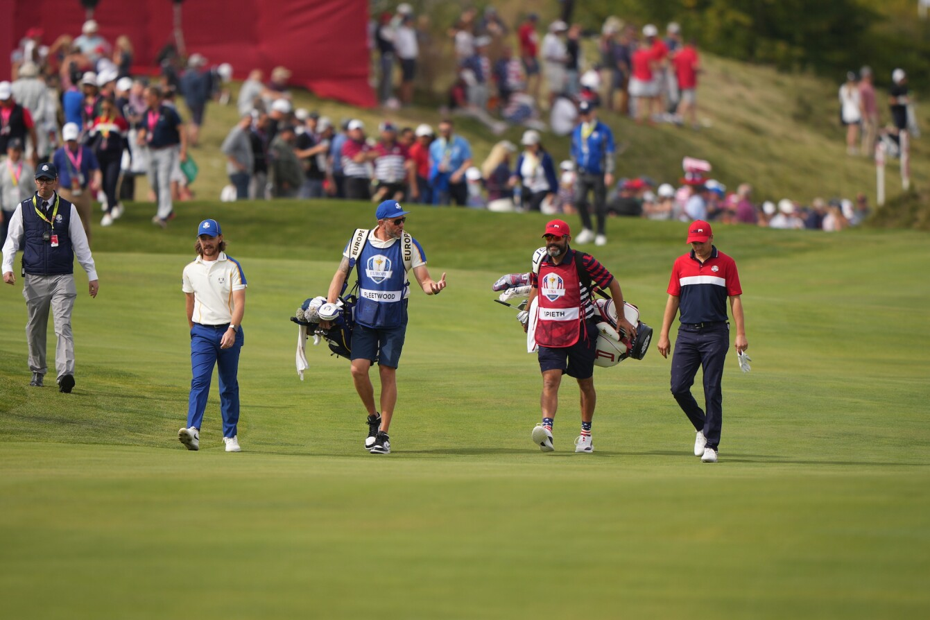 2021 Ryder Cup: Day 3 - Walking Up the First Fairway