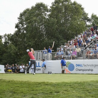 2017 Dell Technologies Championship: Round 2 - 10th hole