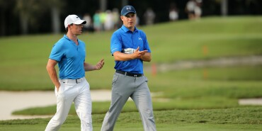 WCG Cadillac Championship Round 2 Jordan and Rory