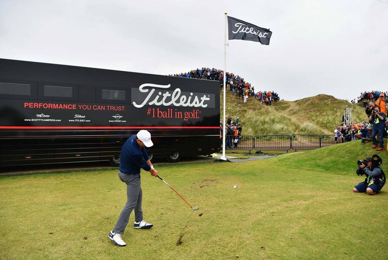 2017 Open Championship: Final Round - Recovery Shot Near the Equipment Trailers on No. 13