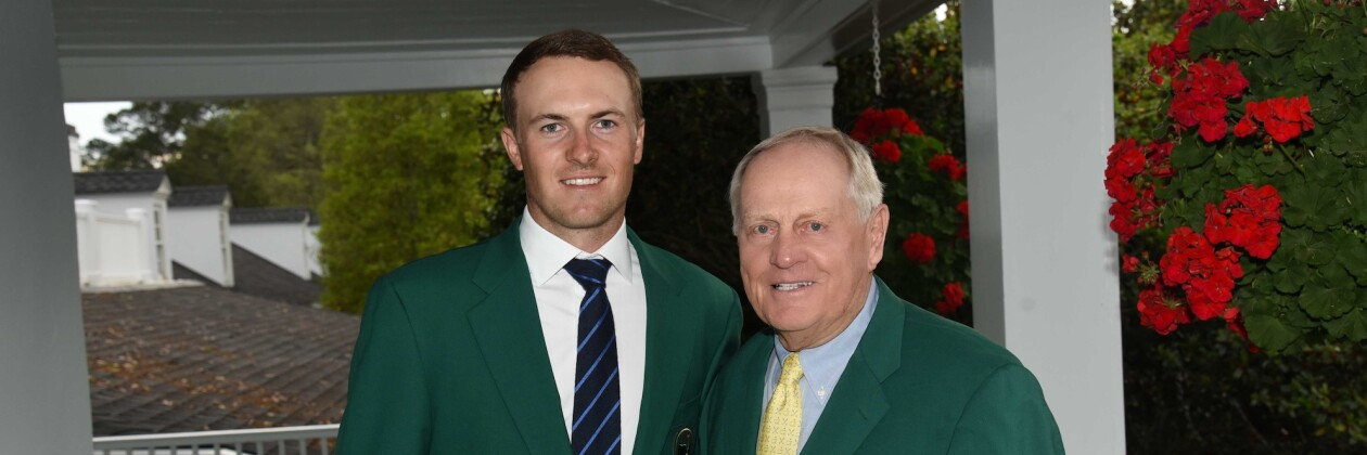 Jordan and Jack Nicklaus at the Champions Dinner