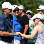 Ellie Greets Her Brother as He Makes His Way to the First Tee