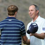 Jordan Spieth and Matt Kuchar at the 2014 World Golf Championship - Accenture Match Play