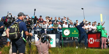 2021 Open Championship: Round 1 - Tee Shot During the Opening Round