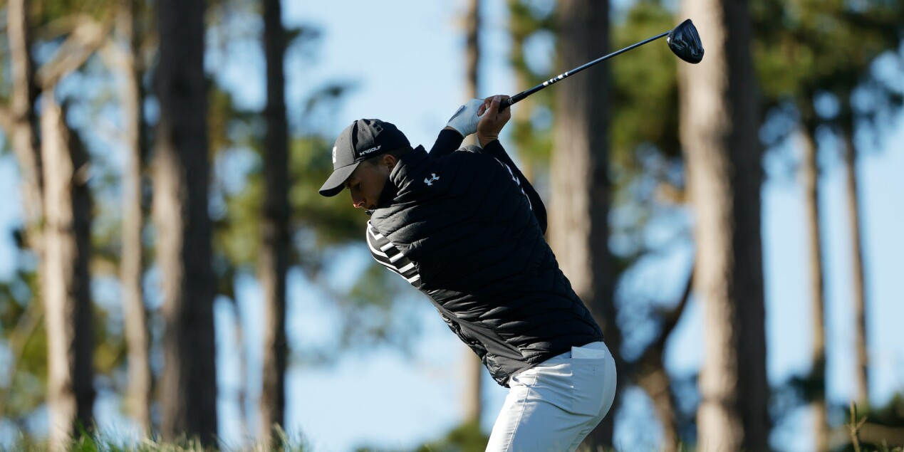 2021 AT&T Pebble Beach Pro-Am: Round 1 - Jordan on No. 18