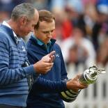 2017 Open Championship: Final Round - Jordan and Matt Kuchar With the Claret Jug