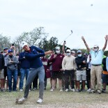 2021 Valero Texas Open: Round 3 - Flop Shot on the 17th