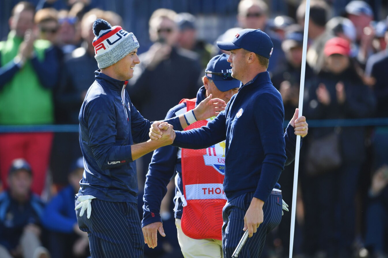 2018 Ryder Cup: Saturday Morning Fourball - Jordan and Justin Celebrate a Win